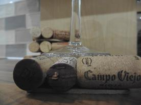 Wine cork drink coasters