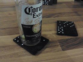 Domino drink coasters