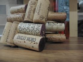 Upcycled wine cork coasters