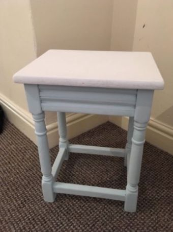 upcycle duck egg side table